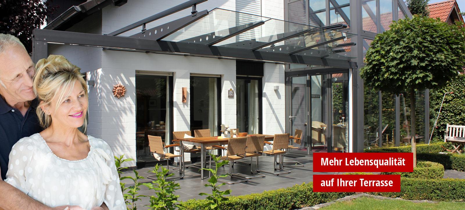 terrassen berdachung glasdach und terrassend cher by gladius. Black Bedroom Furniture Sets. Home Design Ideas